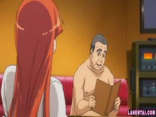 Hentai skaistule slammed līdz vecāks vīrietis
