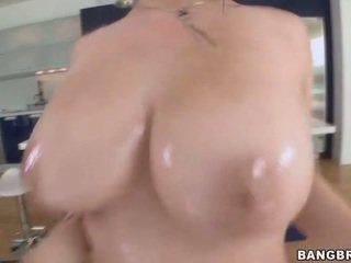 een brunette actie, ideaal hardcore sex, vers zuig- neuken