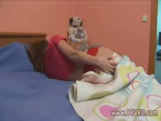 Sleepy chick rubbing her clit