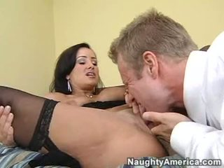 Hot Momma Lisa Ann Enjoys Her Lover's Dick Gliding In And Out Her Lustful Mouth