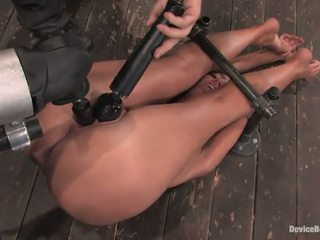 Angelica Saige Has Her Tunnel Bumped Close By A Toy In Masochism Activity
