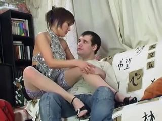 Smoking babe in stockings gets anal pounding