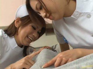Sexy Asian Nurses Enjoy Playing