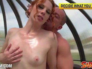 ideaal grote lul seks, mooi piledriver, vers lepel scène