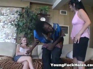 Teen Girl Versus Massive Black Cock