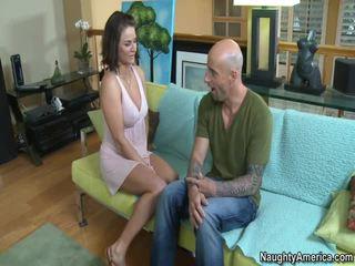 new tits scene, great brunette, hq hardcore sex scene