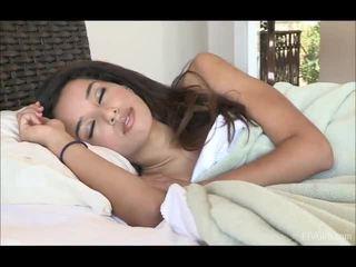 Chloey stretcsaluteng at doing yoga sa loob ang umaga after waking up