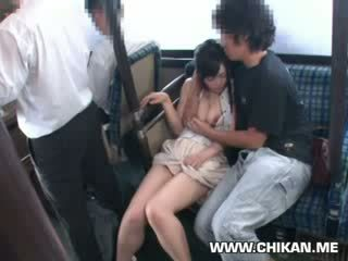 innocent chick groped on a bus