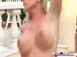 Kelly Taylor Is Rubbing Her Clit While Her Pussy Is Being