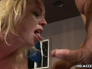 any blowjob any, deep throat onlaýn, blonde