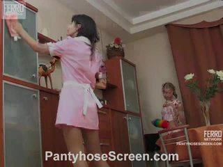 Alina और catherine नॅस्टी hose actionion