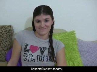 Slutty teen brunette krista wants to be bad