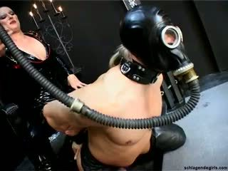 femdom عظيم, سخونة اللاتكس راقب, لطيف ألماني عظيم