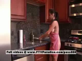 Alexa Loren Tender Naked Brunette In The Kitchen