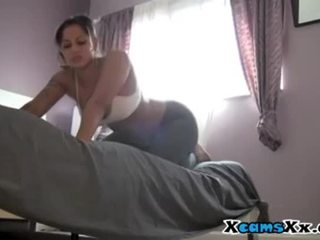 She Rips Her Yoga Pants To Fuck Her