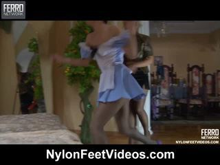 Betty&veronica Naughty Pantyhose Feet Movie
