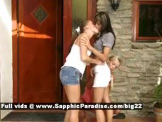 Latika And Camie And Mellie Stunning Lesbian Girls Fingering
