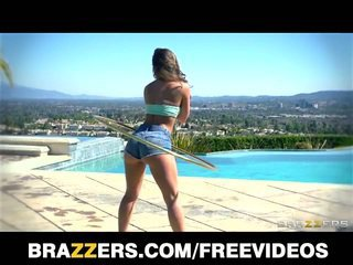 Remy lacroix's ass rammed hard by the pool