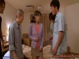 vol brunette kanaal, heetste japanse, heet groepsseks neuken