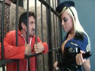 Busty fairhair babe banged in prison