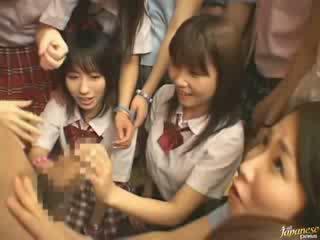 japanse vid, groot meisjes scène, buurman video-
