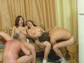 Horny family sex orgy Video
