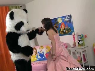 Teenaged fairy revived jucărie panda și cocksuck