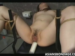 Japanese slave gets stuffed by warm cum.