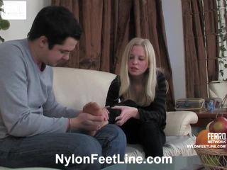 Paulina og adam strømpebukse footfuck film