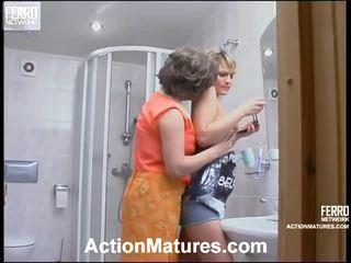 Sara And Amelia Impressive Mamma Inside Action