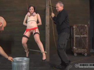 vernedering klem, een voorlegging video-, bdsm scène