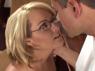 Blonde secretary prefers sex with her boss