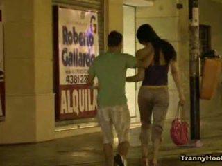 Tranny Hooker In Titfuck & Anal Sex