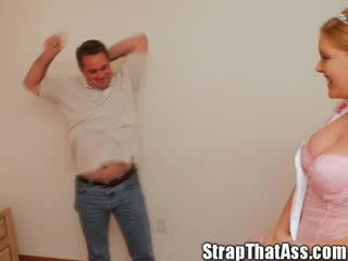 Kevin's فندوم sissification برنامج مع ال strap في أميرة & لها جنسي صديق