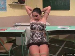 老师 punishing 她的 性感 学生