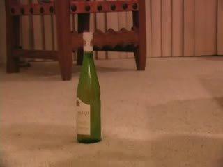 Skinny girl vs wine bottle