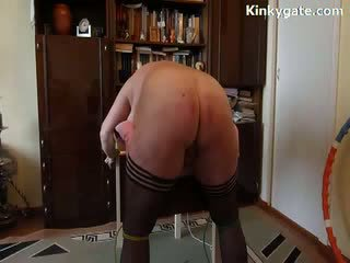 Whipping Big Ass my sub wife again and again
