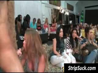 Party girls share stripper's dong