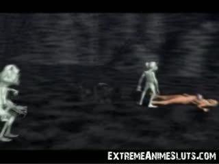 תלת ממדים aliens ב a נסיכה!