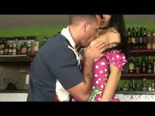 Sex Sense: Nasty cute Latina drilled hard in the bar