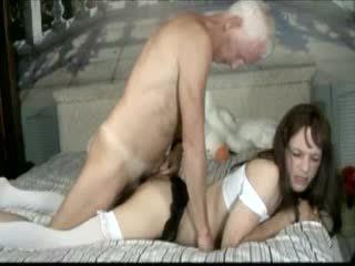 Crossdresser banged old man