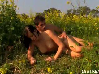 kijken hardcore sex, ideaal pijpen kanaal, vol seks in de buitenlucht actie