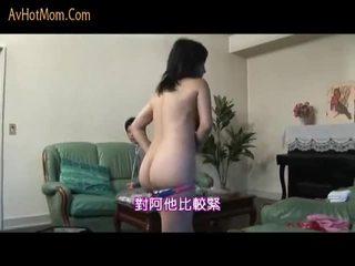 Giapponese mamma seduced da salesman