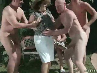 pissing, groot oma, alle fetisch