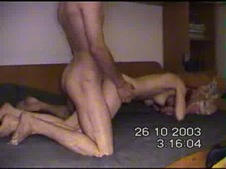 Fucking his skinny wifes pussy in many dominant positions Video
