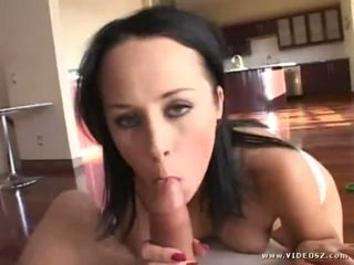 brunette rated, real big boobs, fresh blowjob