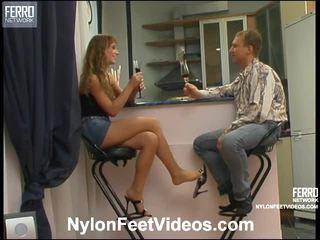 meer voet fetish mov, meer stocking sex, u nylons feet vid