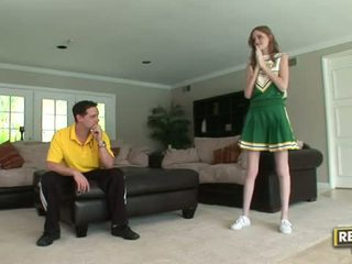 Tall cheerleader Layla Exx gets fucked hard