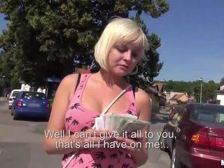 Czech slut Alexis Leone fucked for cash