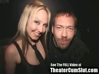 spunk slut Zoe Gets spunk Coated & Creampied In Public Porn Theater